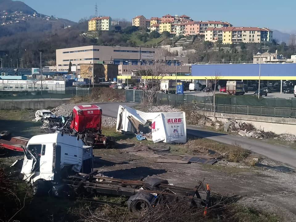 Detriti Morandi a San Biagio