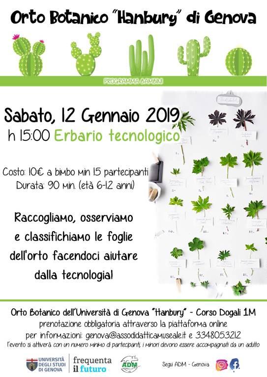 Erbario tecnologico - Laboratorio Orto Botanico Genova