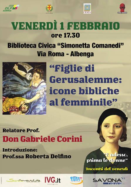 """Figlie di Gerusalemme"" conferenza don Gabriele Corini Albenga"