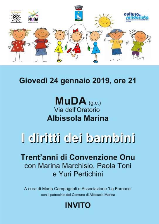 """""""I diritti dei bambini – 30 anni Convenzione Onu"""" conferenza Albissola Marina"""