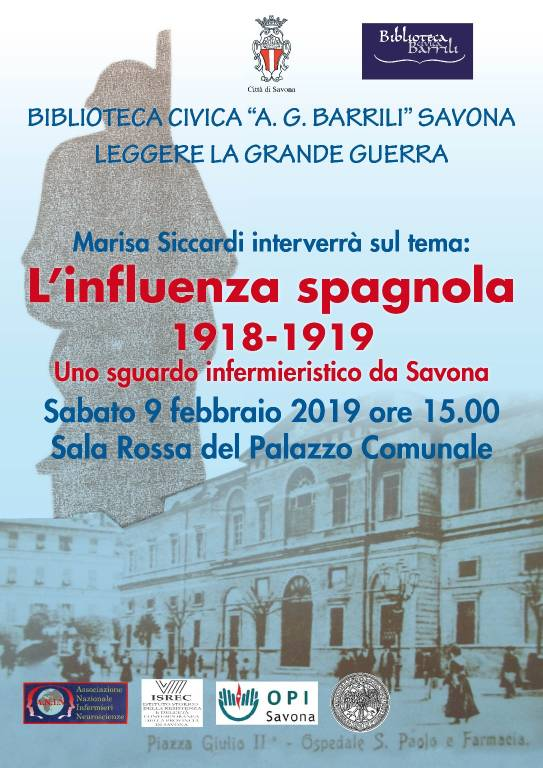 """L'influenza spagnola 1918-1919"" convegno Savona"