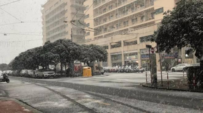 La neve alla Foce di Matteo Zambelli