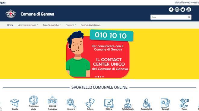 nuovo sito comune di genova