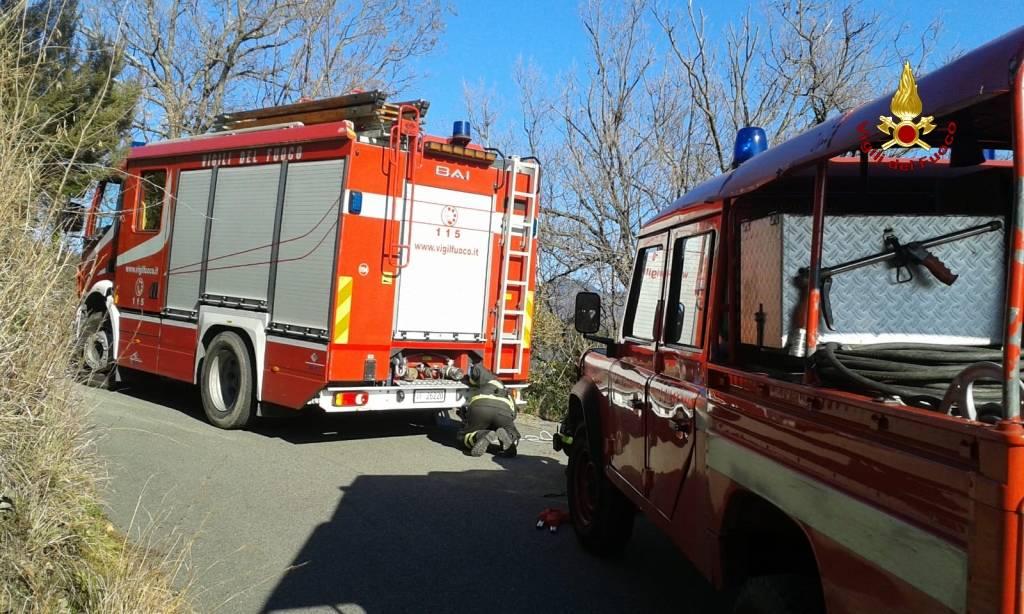 recupero persona vigili del fuoco