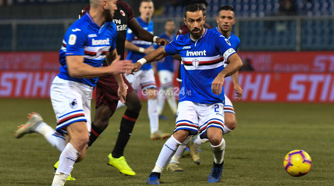 Sampdoria vs Milan Coppa Italia