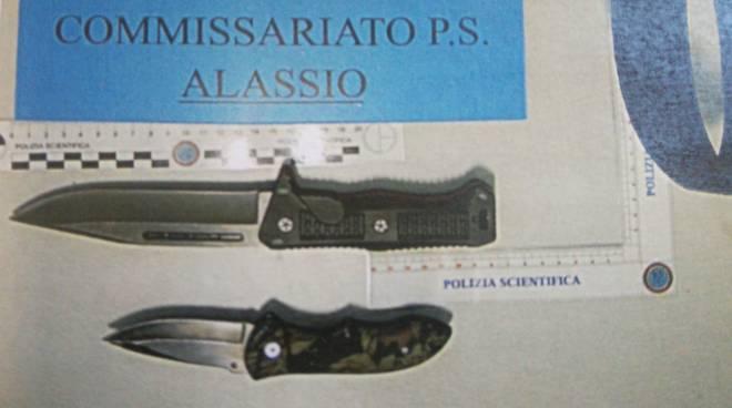 Sequestro coltelli Alassio