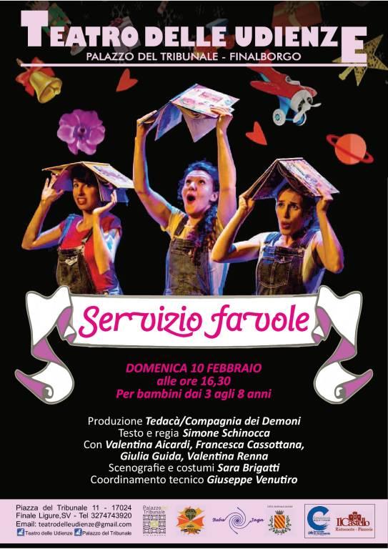 """""""Servizio favole"""" spettacolo bambini Teatro delle Udienze Finale Ligure"""