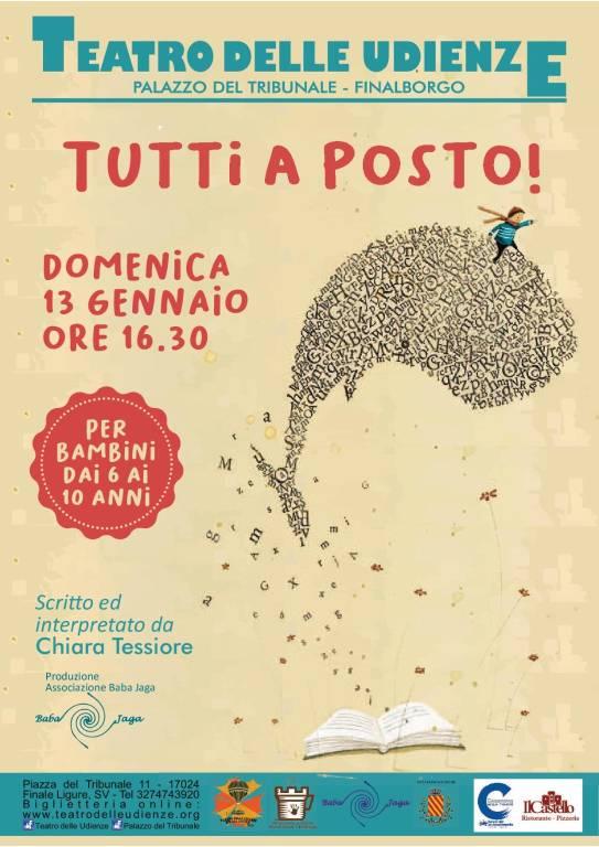 """""""Tutti a posto!"""" spettacolo Teatro delle Udienze Finale Ligure"""