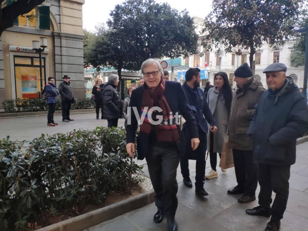 Vittorio Sgarbi a Savona