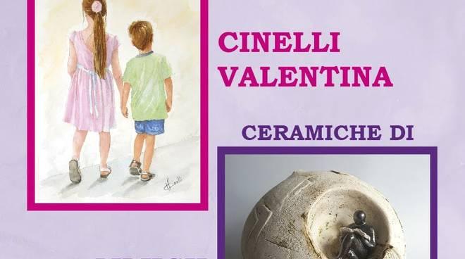 Acquerelli Valentina Cinelli e ceramiche Ingrid Mijich Albenga
