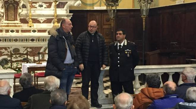 Alassio, incontro col maggiore Ferrari nella parrocchia di Sant'Ambrogio