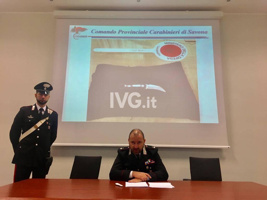 Albenga, conferenza carabinieri: arresto rapinatore farmacia di via Milite Ignoto