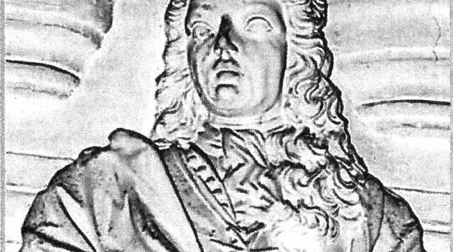 Ammiraglio Ottavio Scarampi ritratto in marmo