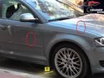 auto crivellata colpi di pistola albisola