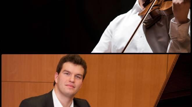 """Genoa International Music Youth Festival . \""""Il virtuosismo di Paganini e Liszt\"""". Kevin Zhu, violino – Marton Kiss, pianoforte ."""