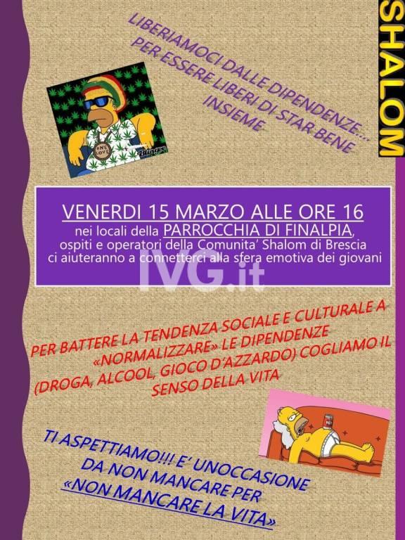 Incontro per informazioni su lotta alle dipendenze con la comunità SHALOM di Brescia