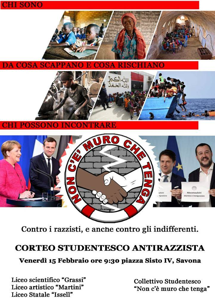 corteo antirazzista studenti