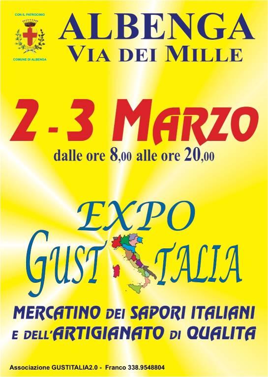 Expo GustItalia mercatino sapori e artigianato Albenga marzo 2019