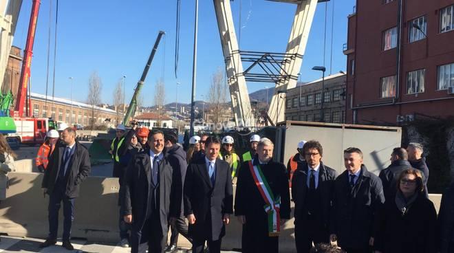 Giovanni Toti con il presidente del Consiglio Giuseppe Conte