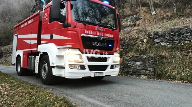 Incendio boschivo ad Alpicella