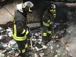 Incendio in via Santuario a Savona