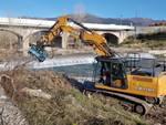 Lavori torrente Neva Albenga