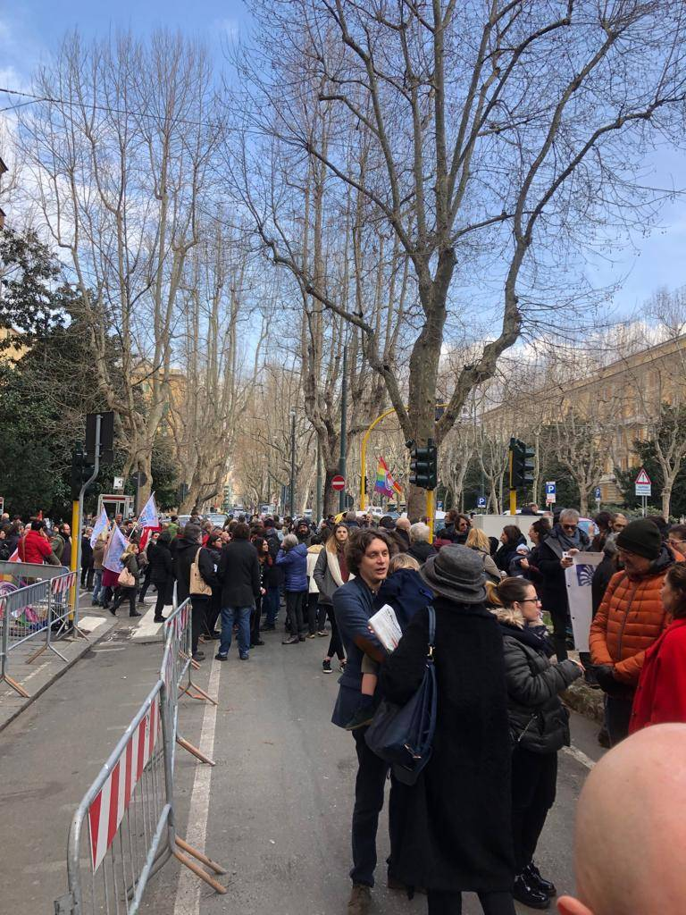 Manifestazione contro Registro delle famiglie
