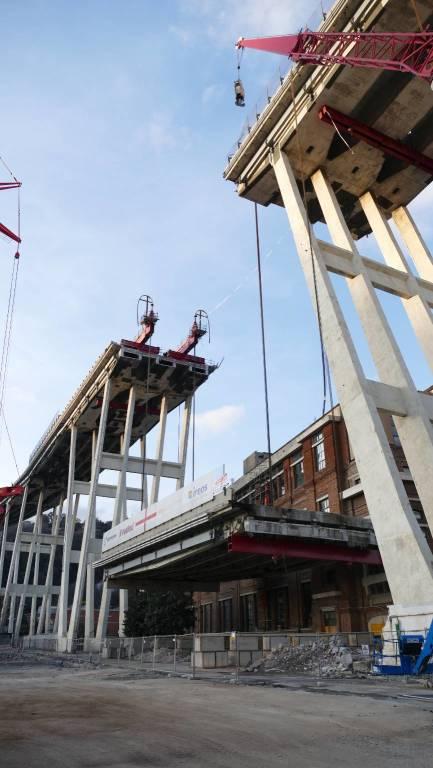 ponte morandi cantiere ovest 20 febbraio