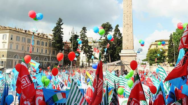Manifestazione Sindacati Roma