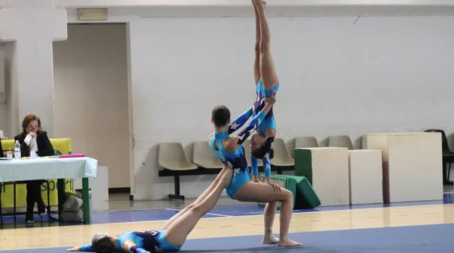 Acrogym: il trio della Polisportiva Agi al campionato regionale Uisp