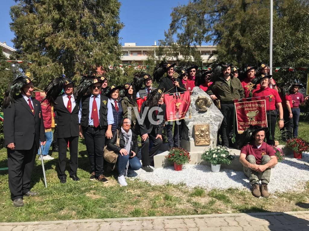 Albenga, inaugurato il monumento dedicato ai bersaglieri del 14° Battaglione Sernaglia
