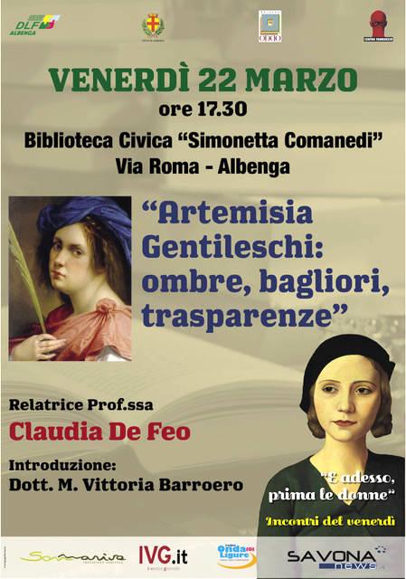"""""""Artemisia Gentileschi: ombre, bagliori, trasparenze"""" conferenza Albenga"""