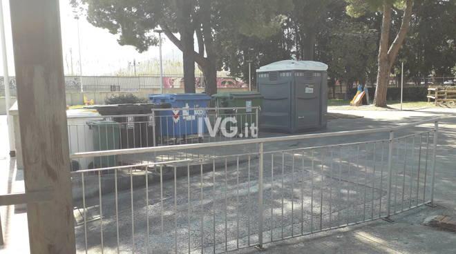 Installazione Bagno Chimico nel parco Cotta