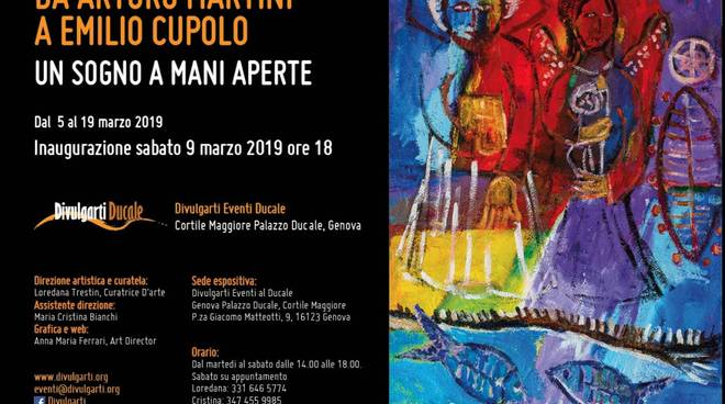 """Mostra d\'arte \""""Da Arturo Martini a Emilio Cupolo. Un sogno a mani aperte\"""""""