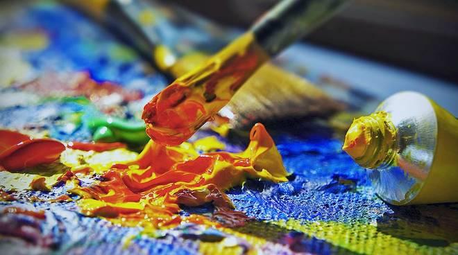 Pittura pennello colori