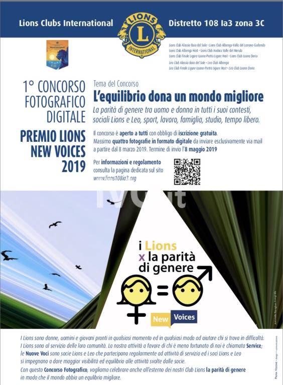 1Concorso Fotografico Digitale Premio Lions New Voices