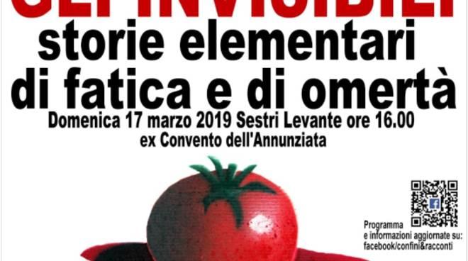 """""""Gli invisibili - Storie elementari di fatica e di omertà"""" incontro Sestri Levante"""