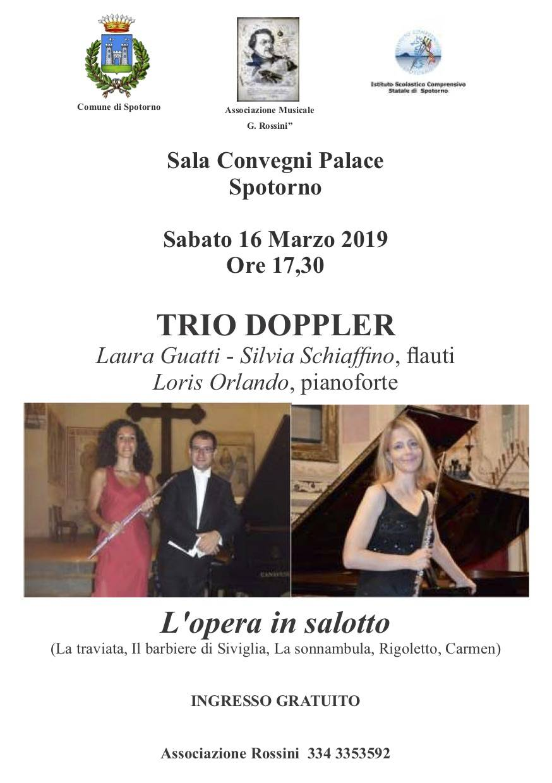 """""""L'opera in salotto"""" concerto Trio Doppler Spotorno"""