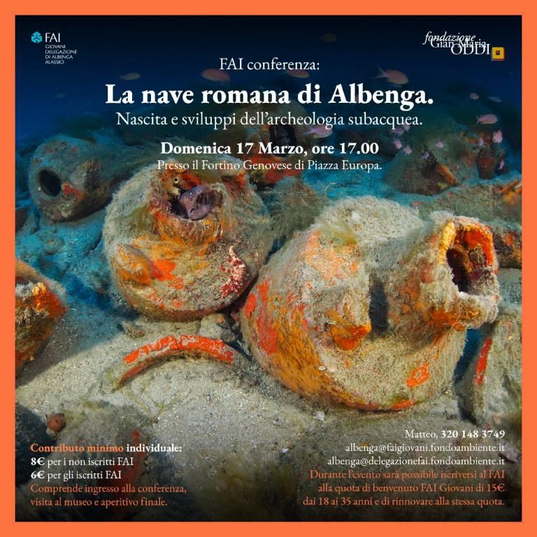 """""""La nave romana di Albenga"""" conferenza FAI Giovani"""