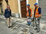 Lavori Albenga via Papa Giovanni