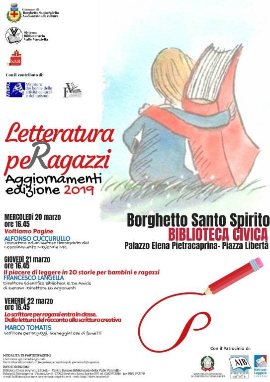 letteratura per bambini e ragazzi a Borghetto