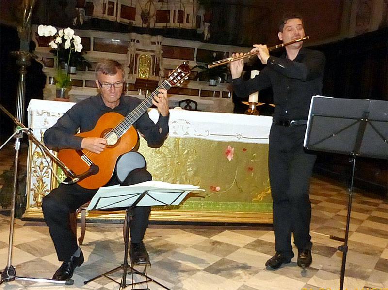 Marco Bortoletti flauto e Riccardo Pampararo chitarra