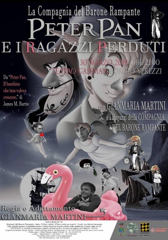 """""""Peter Pan e i ragazzi perduti"""" spettacolo Barone Rampante Borgio Verezzi"""
