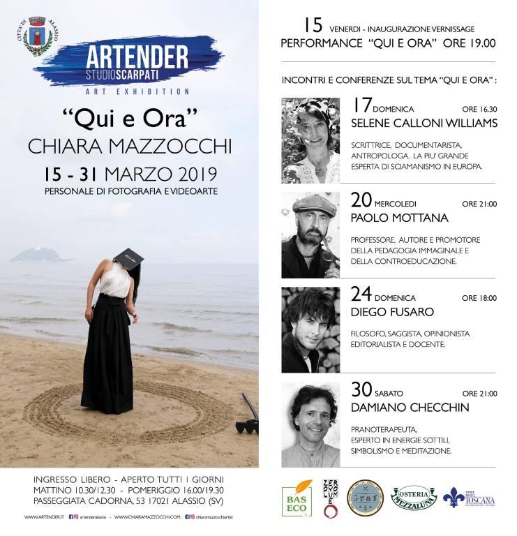 """""""Qui e Ora""""  mostra fotografia e videoarte Chiara Mazzocchi Alassio"""