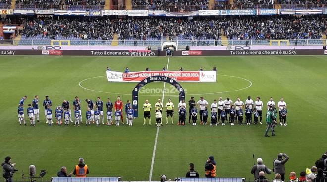 sampdoria-atalanta si festeggia la sampierdarenese