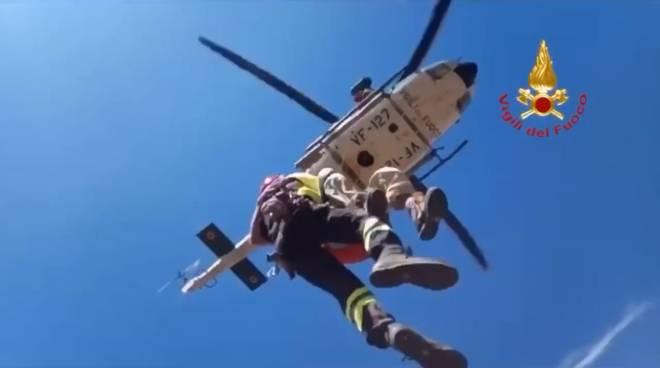 Soccorso escursionista elisoccorso elicottero