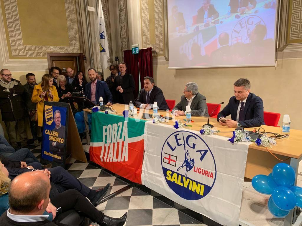 """Toti e Rixi ad Albenga per sostenere """"Gero"""" Calleri"""