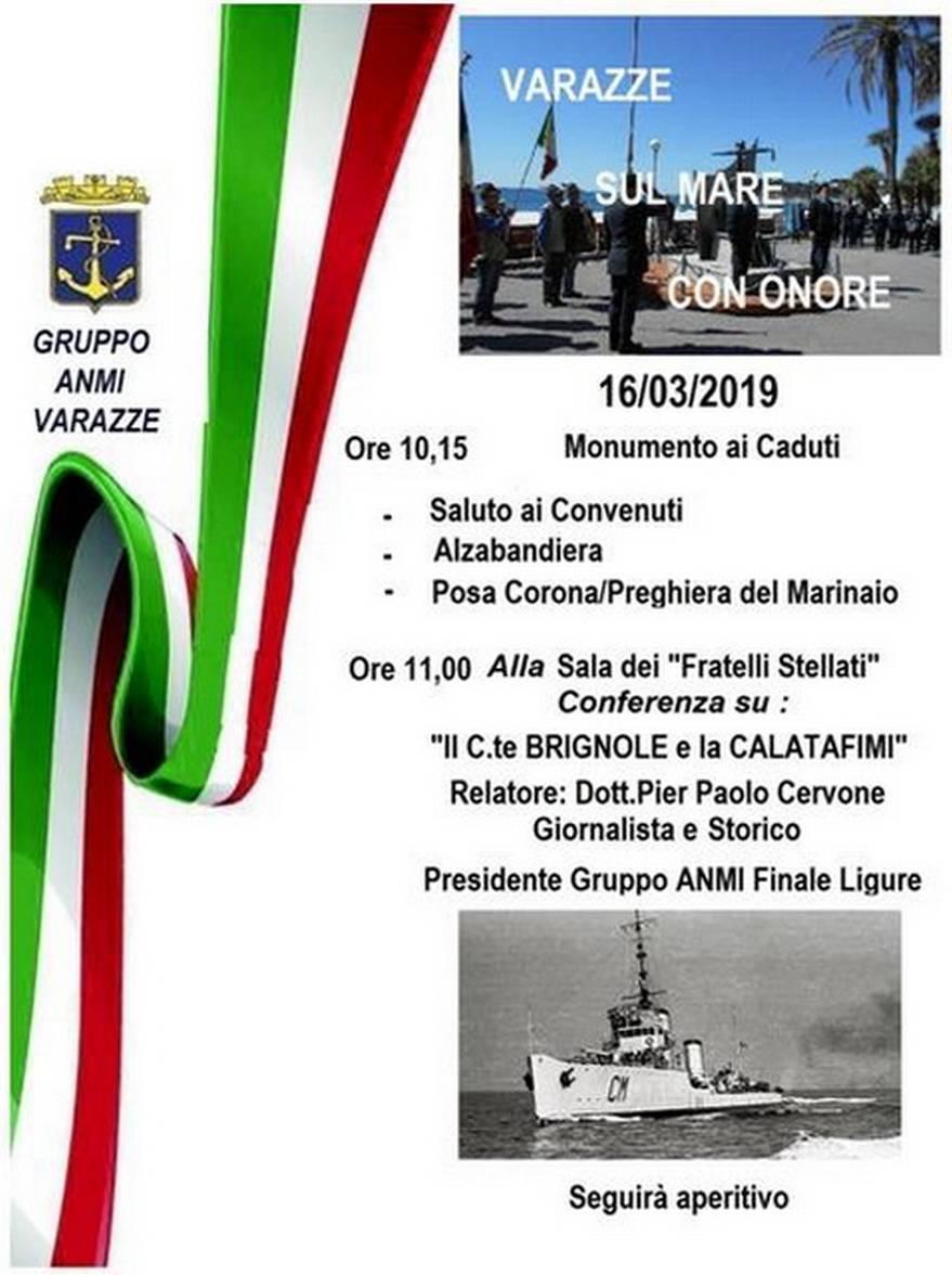 """""""Varazze sul mare con onore"""" - celebrazione e conferenza"""