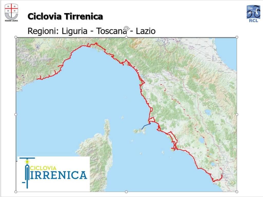 Cartina Costa Tirrenica Toscana.Approvato Lo Schema Di Accordo Tra Liguria Toscana E Lazio Per La Ciclovia Turistica Tirrenica Ivg It