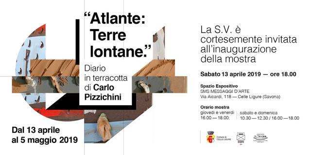 """""""Atlante: terre lontane, diario in terracotta"""" mostra Carlo Pizzichini Celle Ligure"""